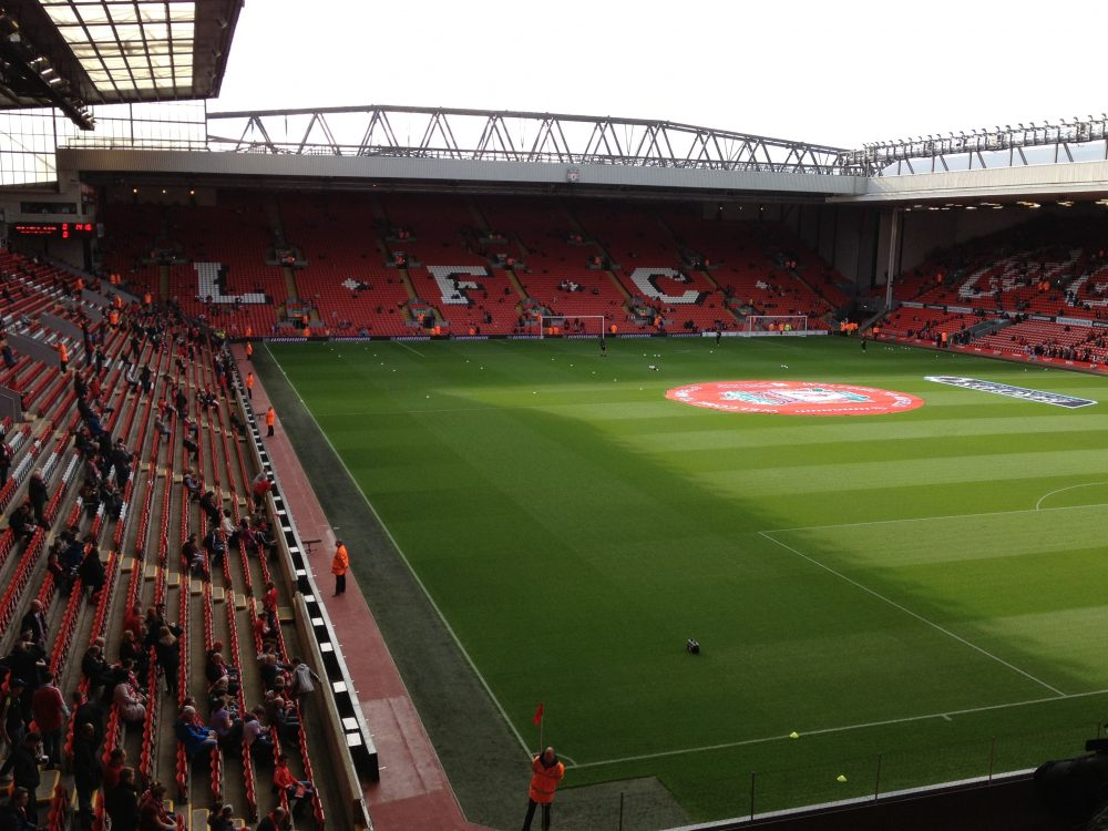 Anfield in Liverpool