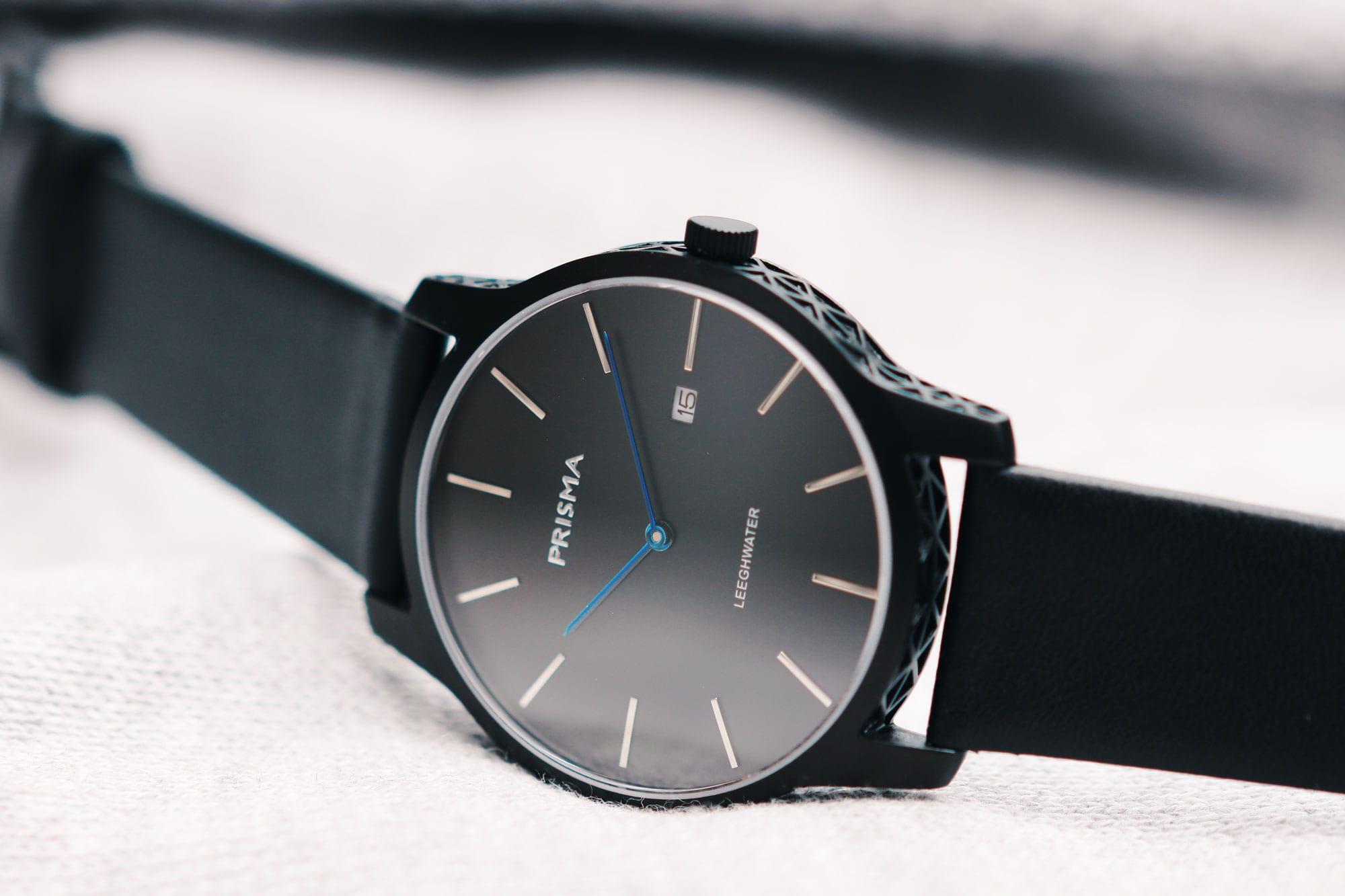 prisma leeghwater black zwart p 1821 horloge