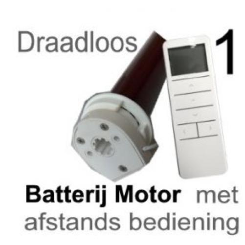 batterij moter met afstands bediening
