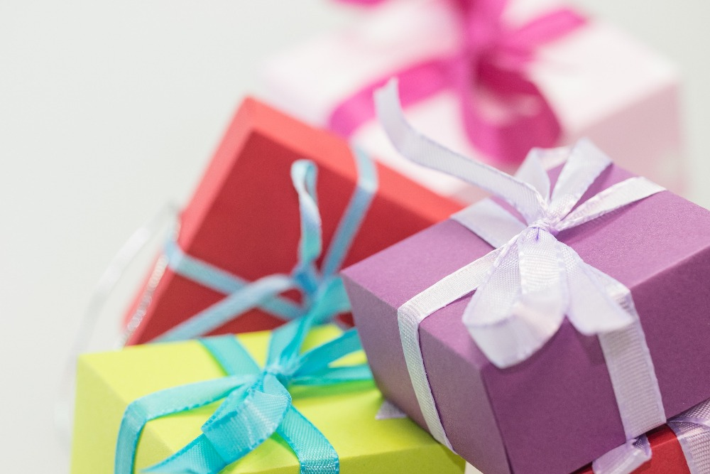 Haal cadeautjes in huis