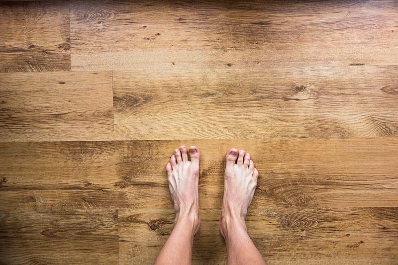 Houten vloer voor gemakkelijk onderhoud