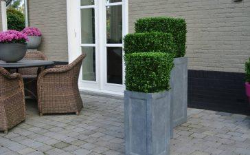 Geen onderhoud met kunstplanten buiten